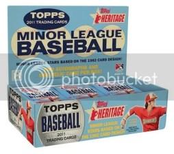 2011 Topps Heritage Minor League Baseball Hobby Box