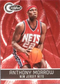 2010-11 Certified Anthony Morrow Red Base Parallel /499