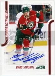 11-12 Score Signatures Brad Staubitz Autograph