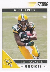 2011 Score Alex Green Packers Rookie RC Card