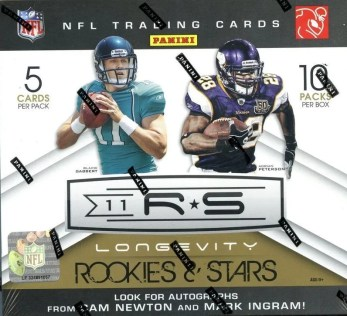 2011 Panini Rookies & Stars Longevity Football Checklist
