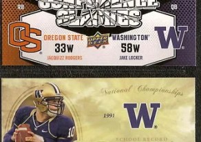 2011 Upper Deck Jake Locker/Jaquizz Rodgers Dual Conference Clashes