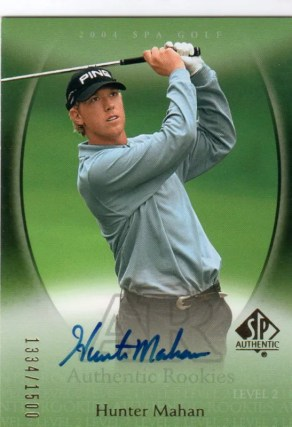 2004 Upper Deck SP Authentic Hunter Mahan Autograph RC Rookie Card
