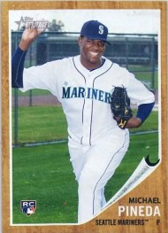 2011 Topps Heritage Michael Pineda RC National Convention