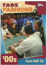 2011 Topps American Pie Fads & Fashions Texas Hold 'Em Poker Card