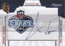 2011 Jordan Todman Prestige Draft Patch Autograph