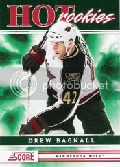 2011-12 Score Hot Rookies Drew Bagnall RC
