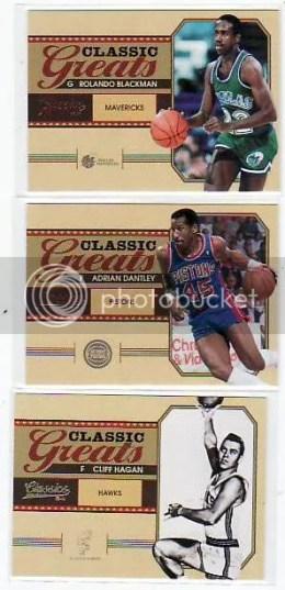 2010-11 Panini Classics Basketball Greats Insert Cards