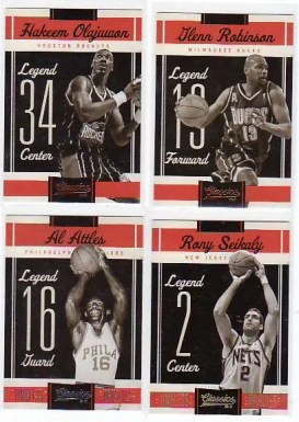 2010-11 Panini Classics Legends Basketball Cards
