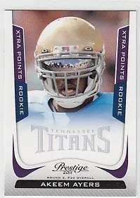 2011 Prestige Akeem Ayers Purple Extra Points #/50