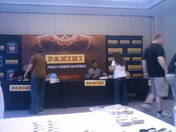 Taiwan Jones Signing Autographs for Panini at Photo Shoot