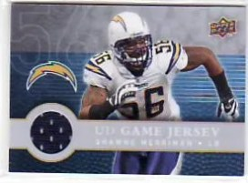 2008 UD First Edition Shawne Merriman Jersey Card