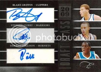 2010-11 Panini Black Box Elite Griffin - Curry - Collison Draft Class Triple Autograph