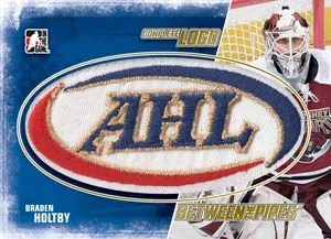 2010/11 ITG Between The Pipes Complete Logo AHL Braden Holtby Patch Jersey Card