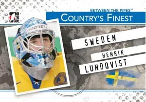 2010/11 ITG Between The Pipes Henrik Lundqvist Countrys Finest Insert Card