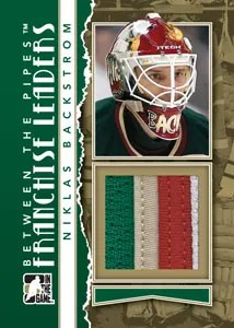 2010/11 ITG Between The Pipes Niklas Backstrom Franchise Leaders Jersey Card