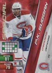 P.K. Subban Special Adrenalyn NHL RC Rookie Card