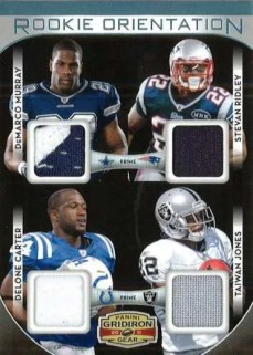 2011 Panini Gridiron Gear Rookie Orientation Quad Material Card