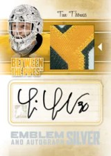 2010/11 ITG Between The Pipes Tim Thomas Jersey Emblem and Autograph Card