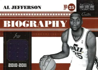 2010/11 Panini National Treasures Al Jefferson Biography Jersey Card