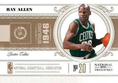 2010-11 Panini National Treasures Ray Allen Base Card
