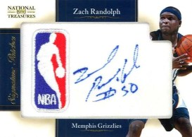 2010-11 Panini National Treasures NBA Logo Zach Randolph Autograph #13