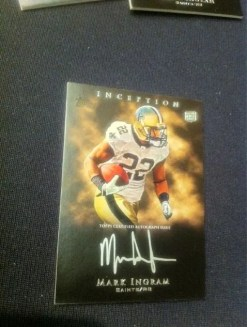 2011 Topps Inception Mark Ingram Autograph Auto Rookie RC