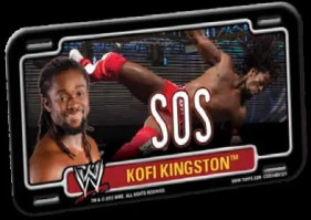 2012 Topps Power Plates WWE Kofi Kingston SOS