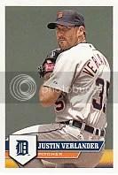 2011 Topps MLB Baseball Sticker Justin Verlander