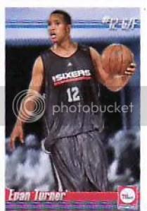2010-11 Panini NBA Stickers Evan Turner Rookie RC