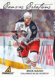 2011-12 Pinnacle Hockey Canvas Creations Rick Nash Card