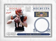 2011 Timeless Treasures Rookie Recruits #1 Andy Dalton