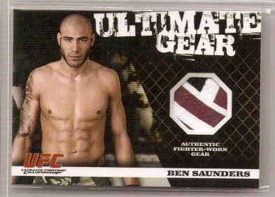 2009 Topps UFC Round 1 Ultimate Gear Ben Saunders