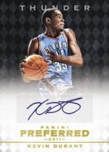 2011-12 Panini Preferred Kevin Durant Autograph Card
