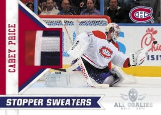 10-11 Panini All-Goalies Carey Price Sweater Stopper Jersey
