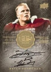 2011 UD Legends Brian Bosworth Autograph