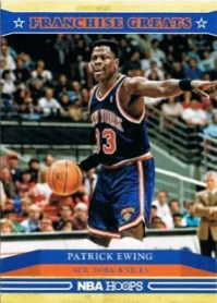 2012-13 Patrick Ewing Franchise Greats Insert Card