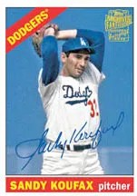 2012 Topps Archives Fan Favorites Sandy Koufax Autograph Card