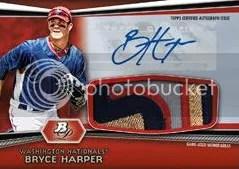 2012 Bowman Platinum Bryce Harper Autograph Relic