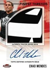 2012 Topps Finest UFC Chad Mendes Autograph Fight Mat