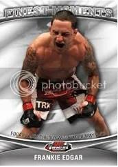 2012 Topps Finest UFC Frankie Edgar Finest Moments Card