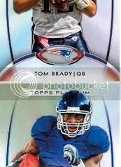 2012 Topps Platinum Tom Brady Base Card