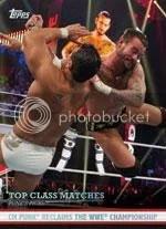 2012 Topps WWE CM Punk Top Class Matches
