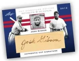 2012 Leaf Sports Icons Josh Gibson Cut Auto