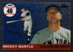 2006 Topps Chrome Mickey Mantle Home Run History 40