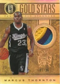 2011-12 Panini Gold Standard Marcus Thornton Stars Prime Jersey Card