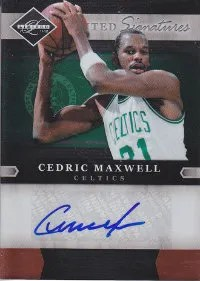 2011-12 Panini Limited Cedric Maxwell Autograph Card