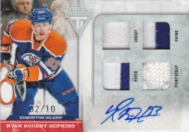 2011/12 Panini Titanium Ryan Nugent-Hopkins Quad Memorabilia Autograph Card