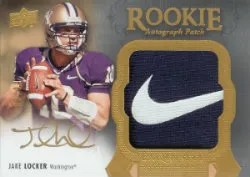 2011 Upper Deck Exquisite Jake Locker Patch Auto RC