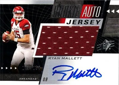 2011 Upper Deck SPx Ryan Mallett Rookie Auto Jersey Card